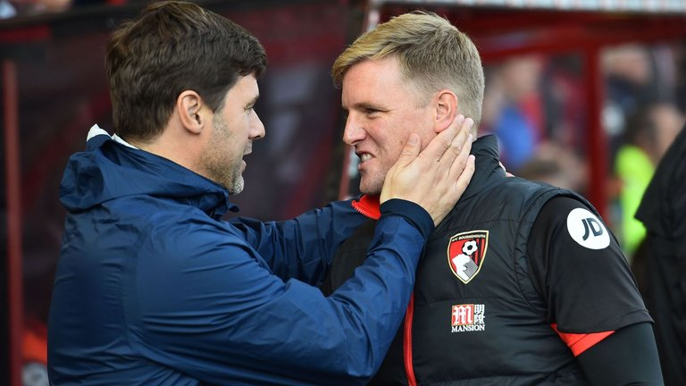 Mauricio Pochettino and Eddie Howe