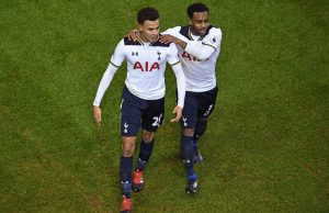 Dele Alli and Danny Rose of Tottenham
