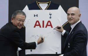 Tottenham And AIA - A New Sponsorship Deal Announced