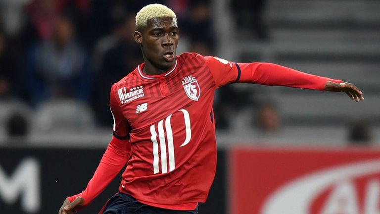 Yves Bissouma during his time at Lille before his move to England.