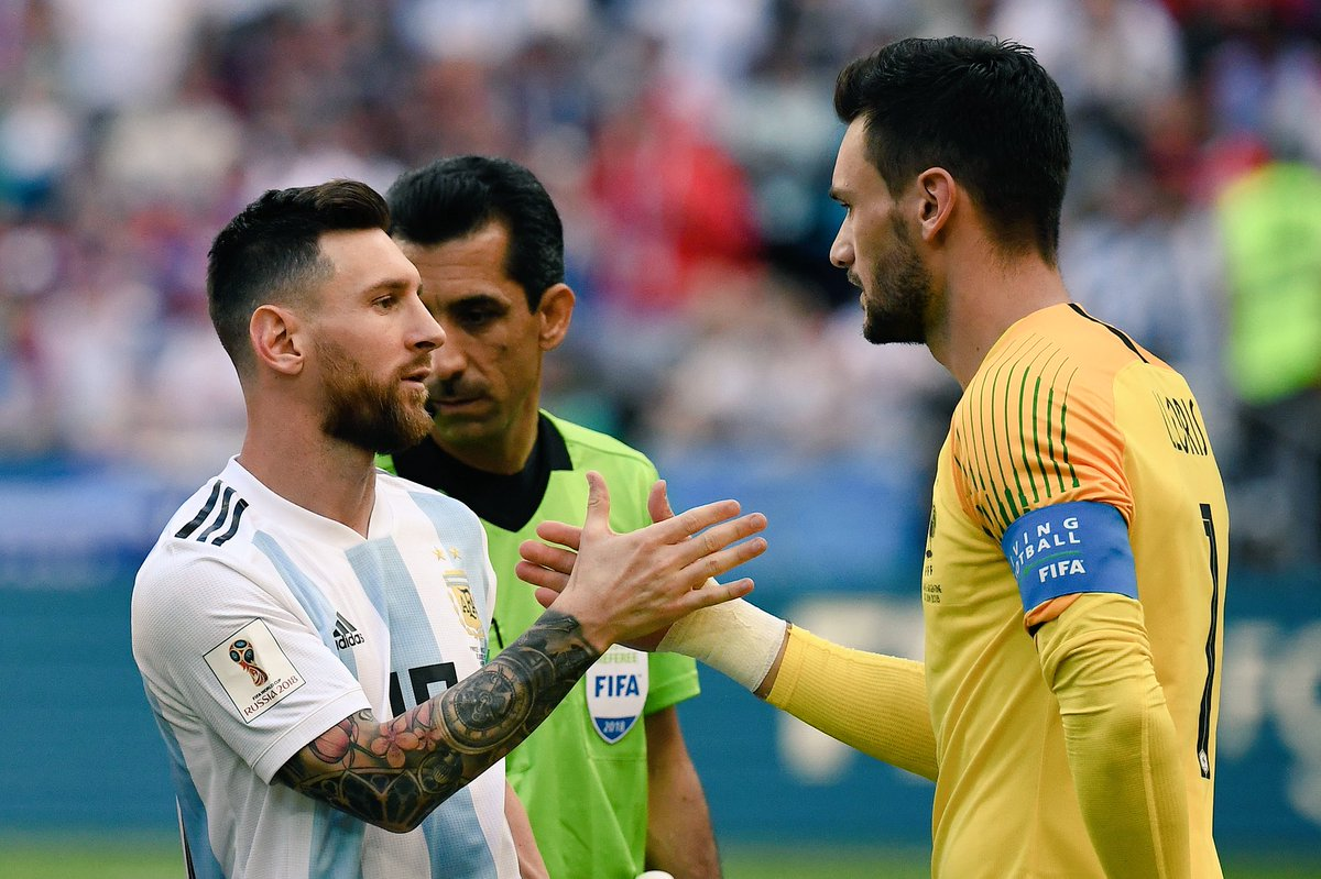 Lionel Messi and Hugo Lloris