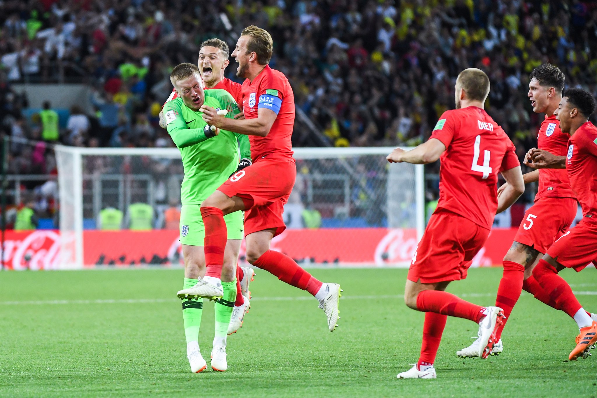 Harry Kane against Colombia