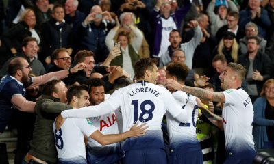 Tottenham celebrate Carabao Cup win over Watford