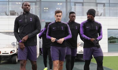 Tottenham players training