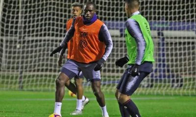 Moussa Sissoko training