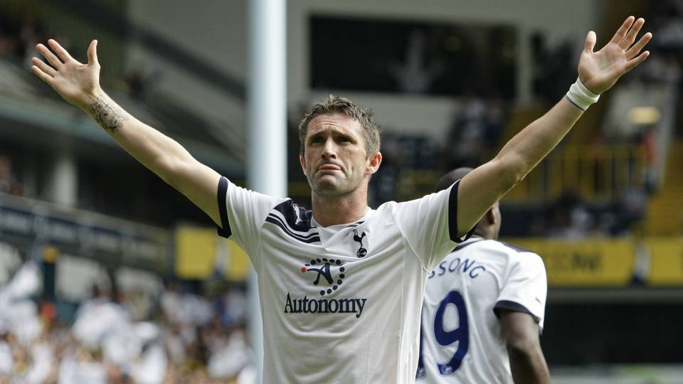 Robbie Keane while playing for Tottenham
