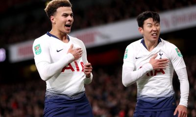 Dele Alli and Son Heung-min of Tottenham