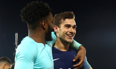 Harry Winks and Danny Rose of Tottenham