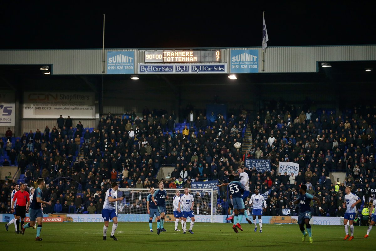 Tottenham against Tranmere in FA Cup