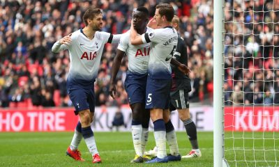 Tottenham players celebrate