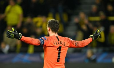 Hugo Lloris against Borussia Dortmund