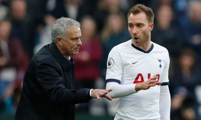 Jose Mourinho and Christian Eriksen