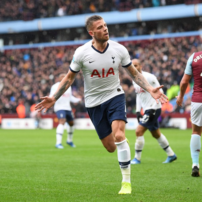 Toby Alderweireld in action for Tottenham Hotspur.