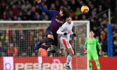 Marc Cucurella in action for Barcelona