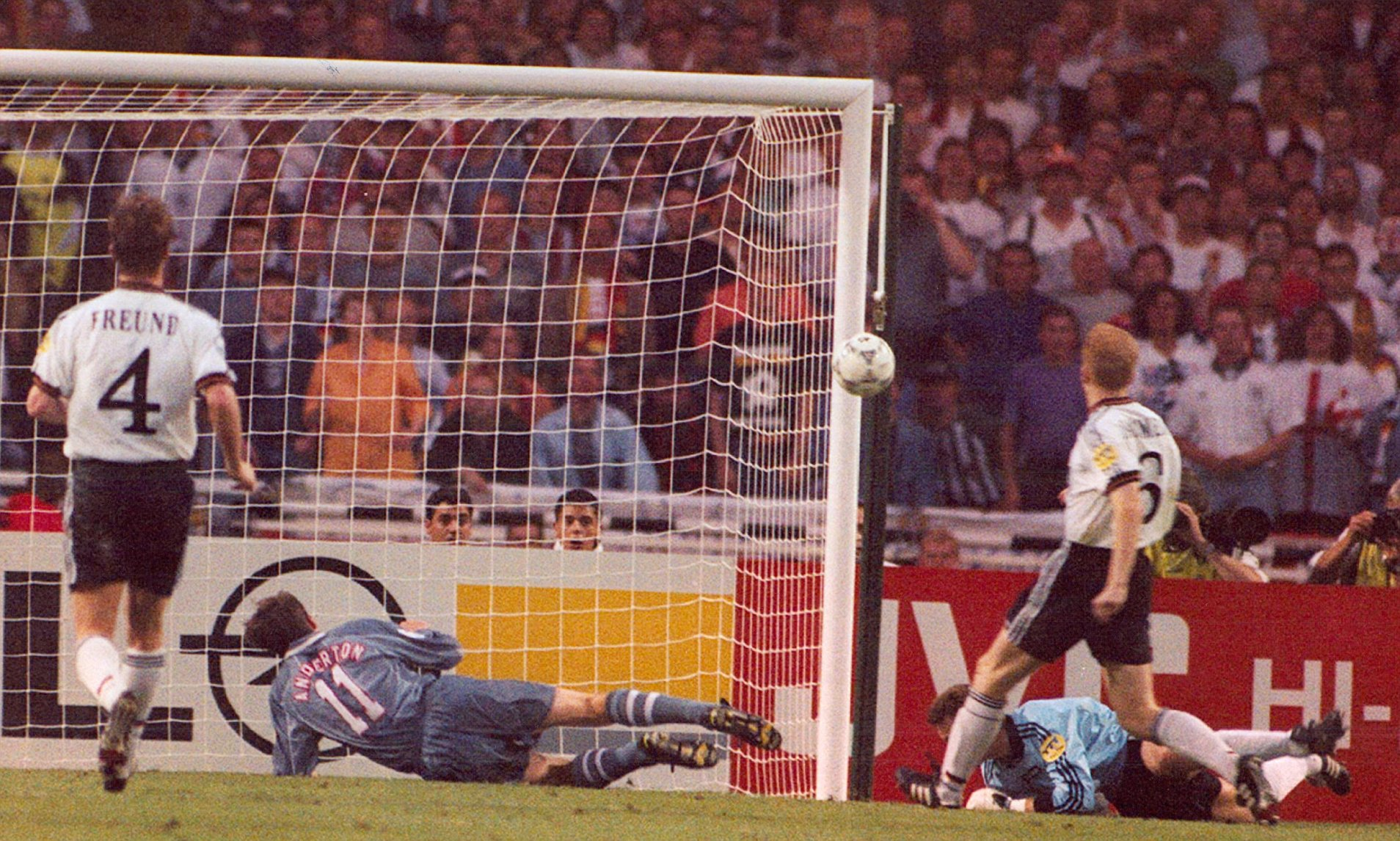 Anderton almost took his team to the finals at Euro 96
