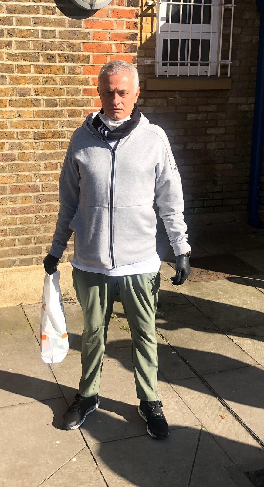 Jose Mourinho was seen helping the vulnerable in London