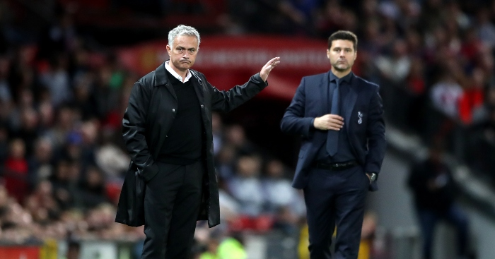 Tottenham Hotspur manager Jose Mourinho took a swipe at Manchester United