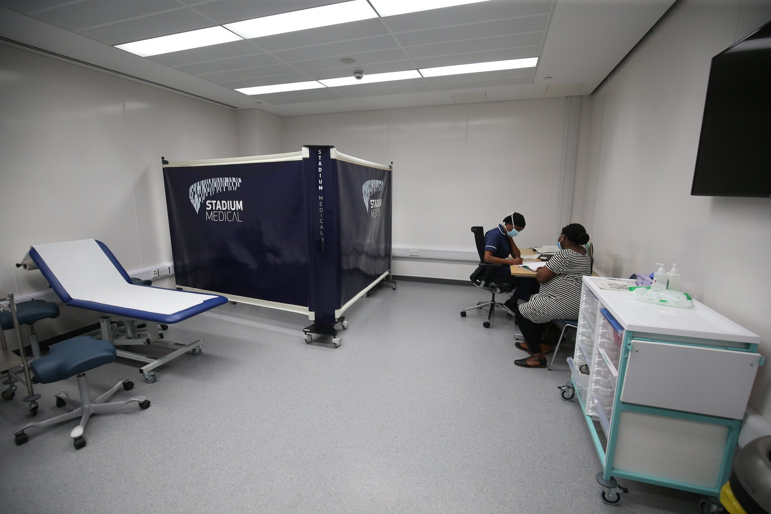 The Tottenham Hotspur Stadium is the first such venue to be used for coronavirus testing