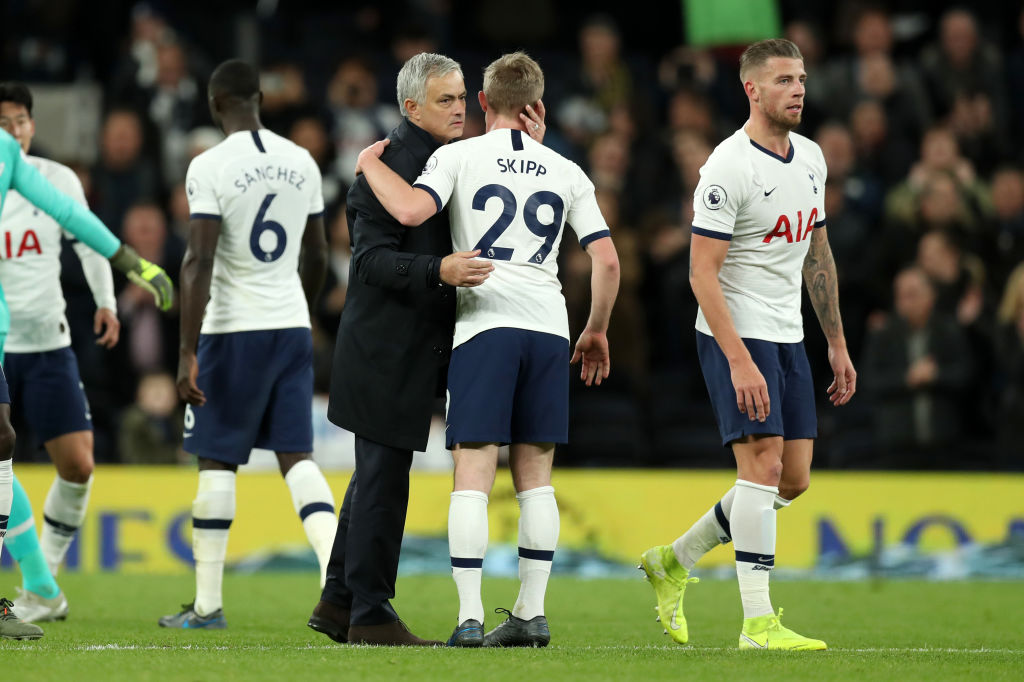 Oliver Skipp was praised by Jose Mourinho