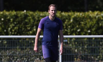 Harry Kane focused in training (Credit: Tottenham Twitter)