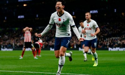 Son Heung-min scored for Tottenham against Sheffield United in the reverse fixture
