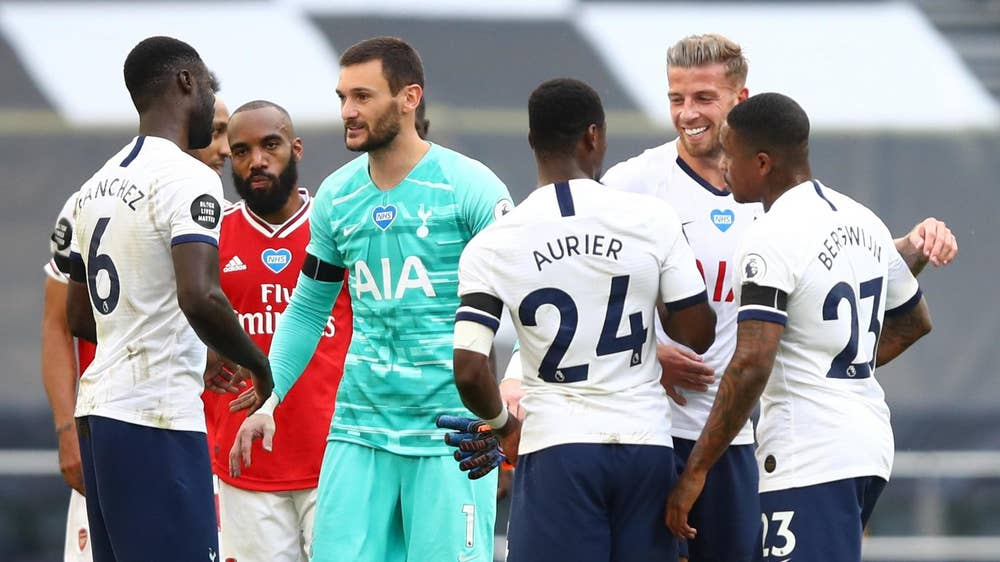 Tottenham beat Arsenal 2-1 in the last game