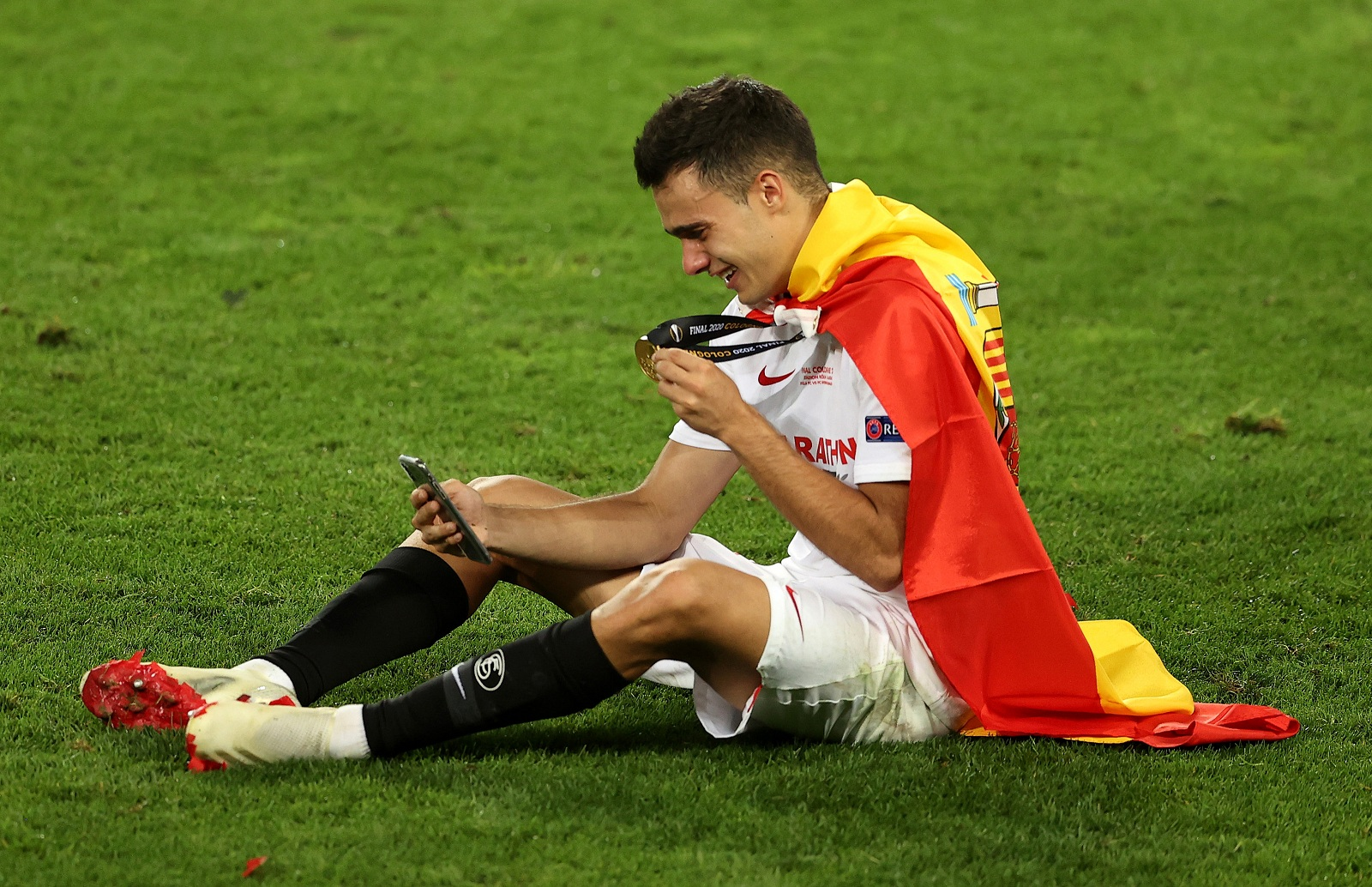 Reguilon won the Europa League with Sevilla last season (Getty Images)