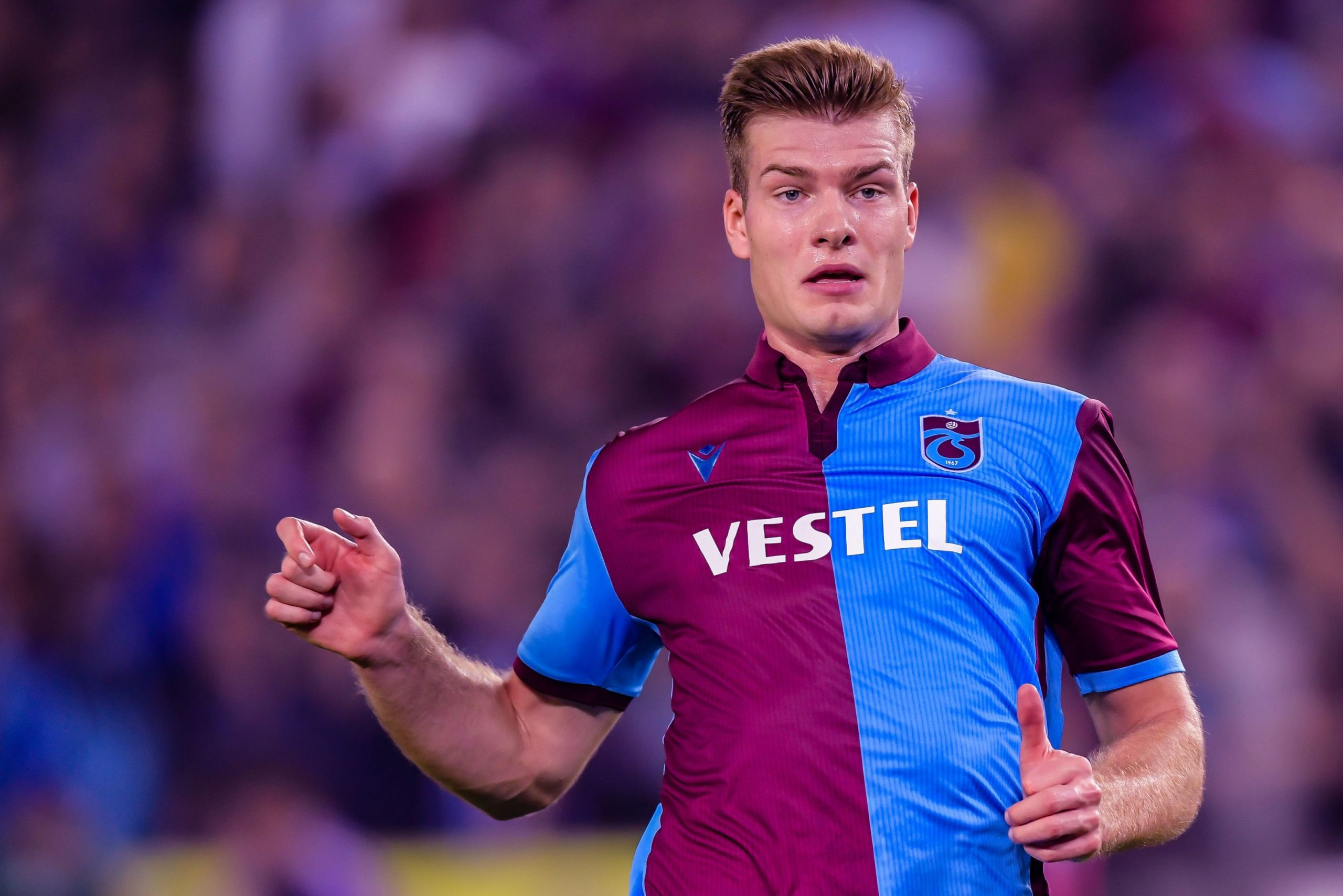 Alexander Sorloth has thrived on loan at Trabzonspor (Getty Images)