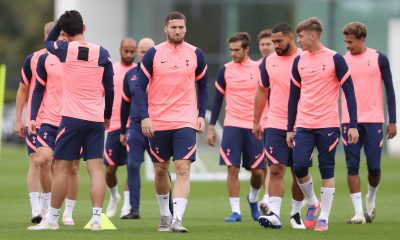 Matt Doherty pictured in training at Hotspur Way (Twitter/SpursOfficial)