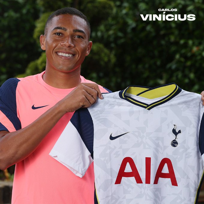 Carlos Vinicius is a Tottenham Hotspur player (Twitter/SpursOfficial)