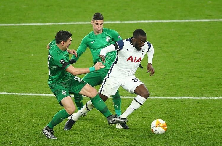 Tanguy Ndombele impressed for Tottenham Hotspur against Ludogorets in the Europa League