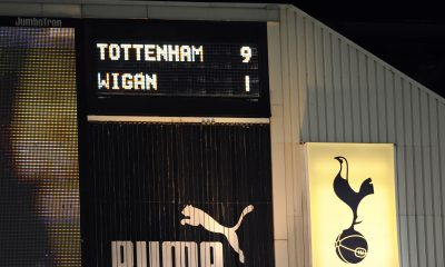 Tottenham beat Wigan Athletic 9-1 eleven years ago today. (GETTY Images)