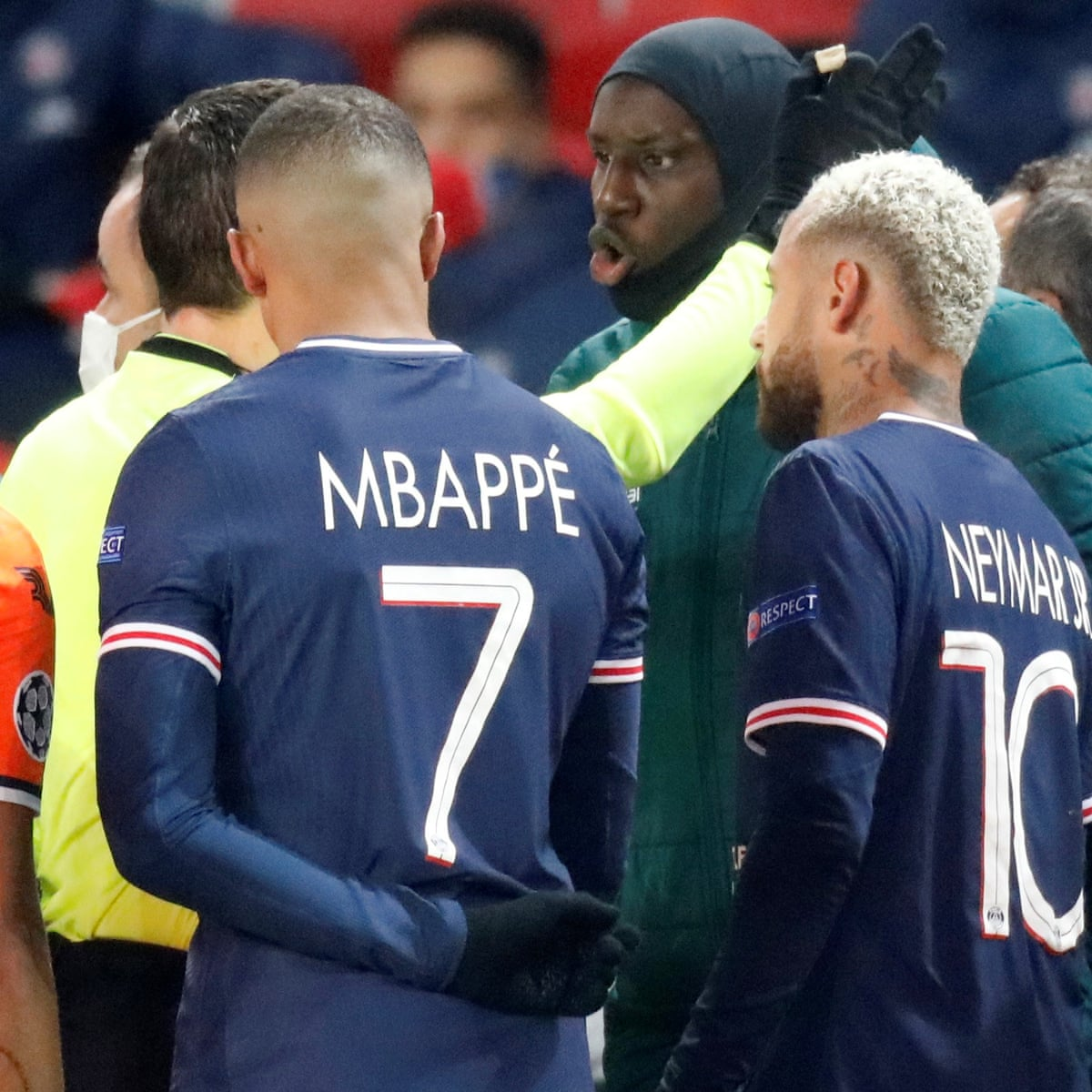 PSG and Istanbul Basaksehir players left the field following an alleged incident of racial profiling in their UCL fixture