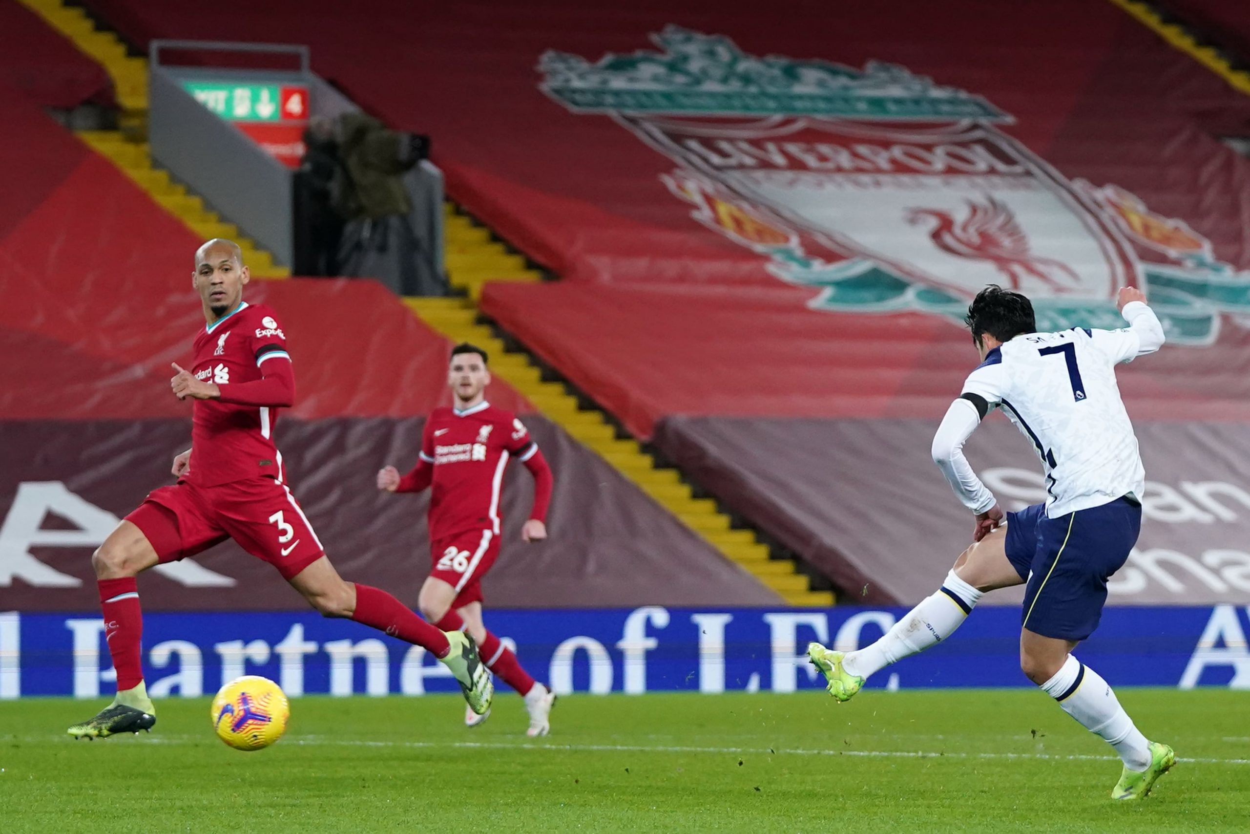 Heung-min Son equalized for the visitors but Liverpool came back to win 2-1. (GETTY Images)