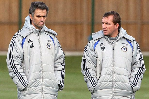 Rodgers and Mourinho during their time at Chelsea (Getty Images)