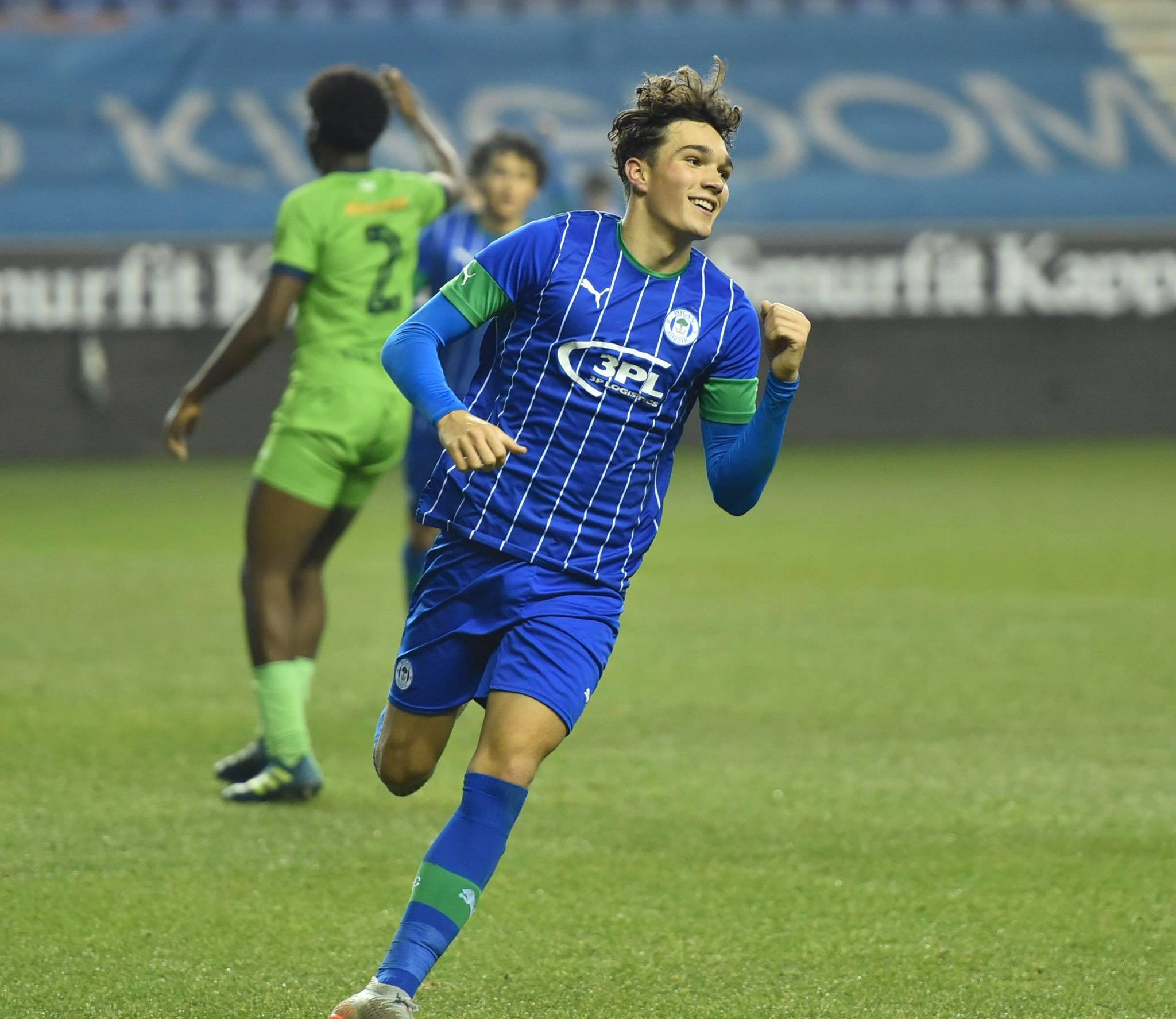 Kyle Joseph has been linked with a move to Tottenham Hotspur. (Image Credits: Wigan Athletic website/Facebook)