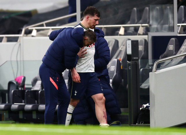 Hojbjerg came off with an injury against Brentford