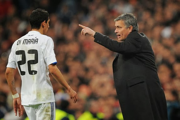 Jose Mourinho and Angel Di Maria worked together at Real Madrid
