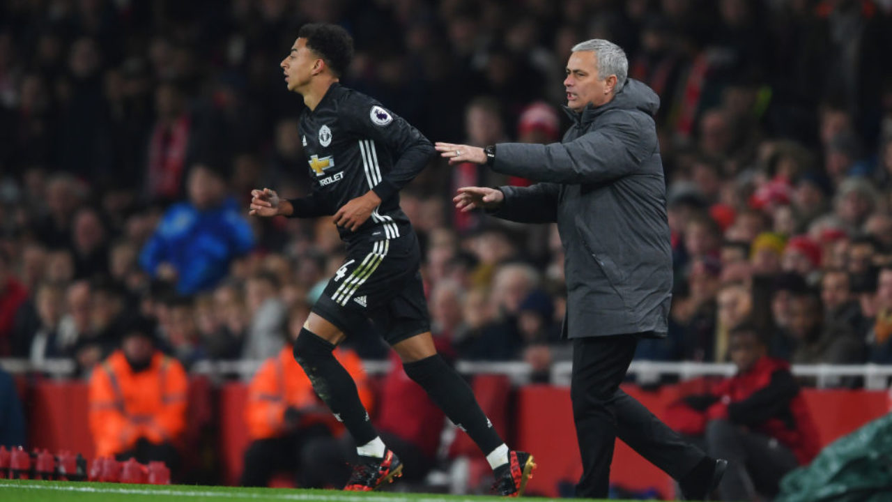 Mourinho and Lingard during their time at Manchester United (Getty Images)