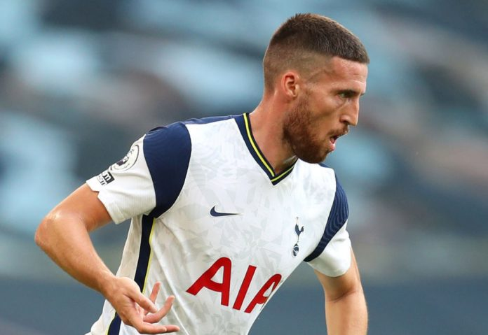 Tottenham star Matt Doherty was sent off against Leeds United