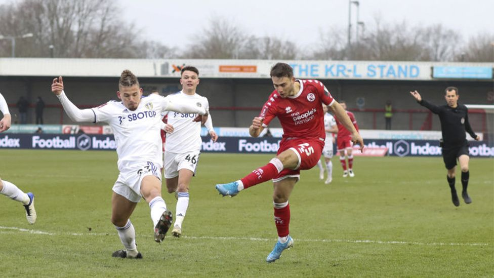 Tsaroulla scored as Crawley Town beat Leeds United in the FA Cup