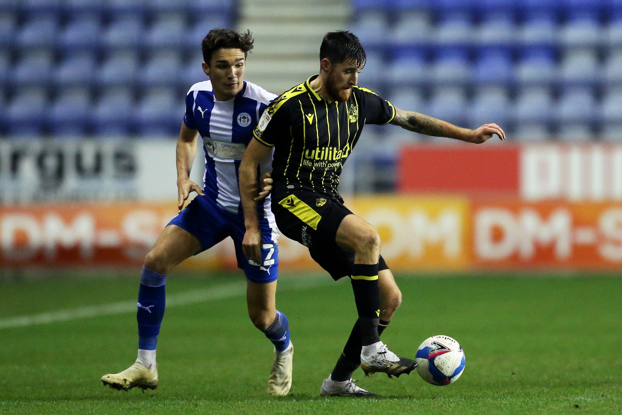 Kyle Joseph (L) plays for Wigan Athletic in League One. (imago Images)