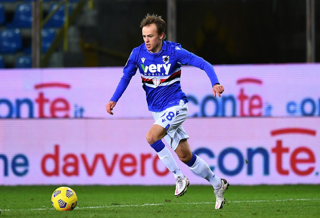 Tottenham Hotspur, West Ham United, Juventus are all in a transfer race for Mikkel Damsgaard. (GETTY Images)