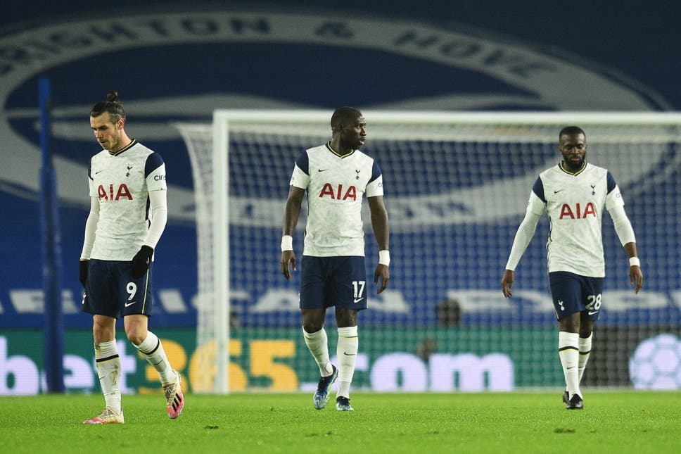 Tottenham suffered a shock loss to Brighton