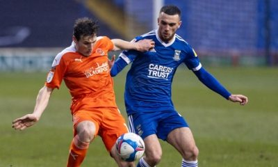Troy Parrott made his debut for Ipswich against Blackpool