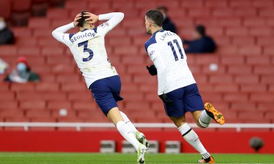 Erik Lamela celebrates after scoring against Arsenal. (imago Images)