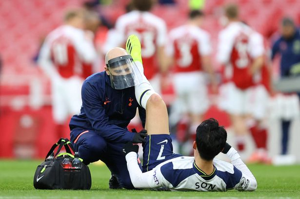 Son Heung-min picked up an injury against Arsenal