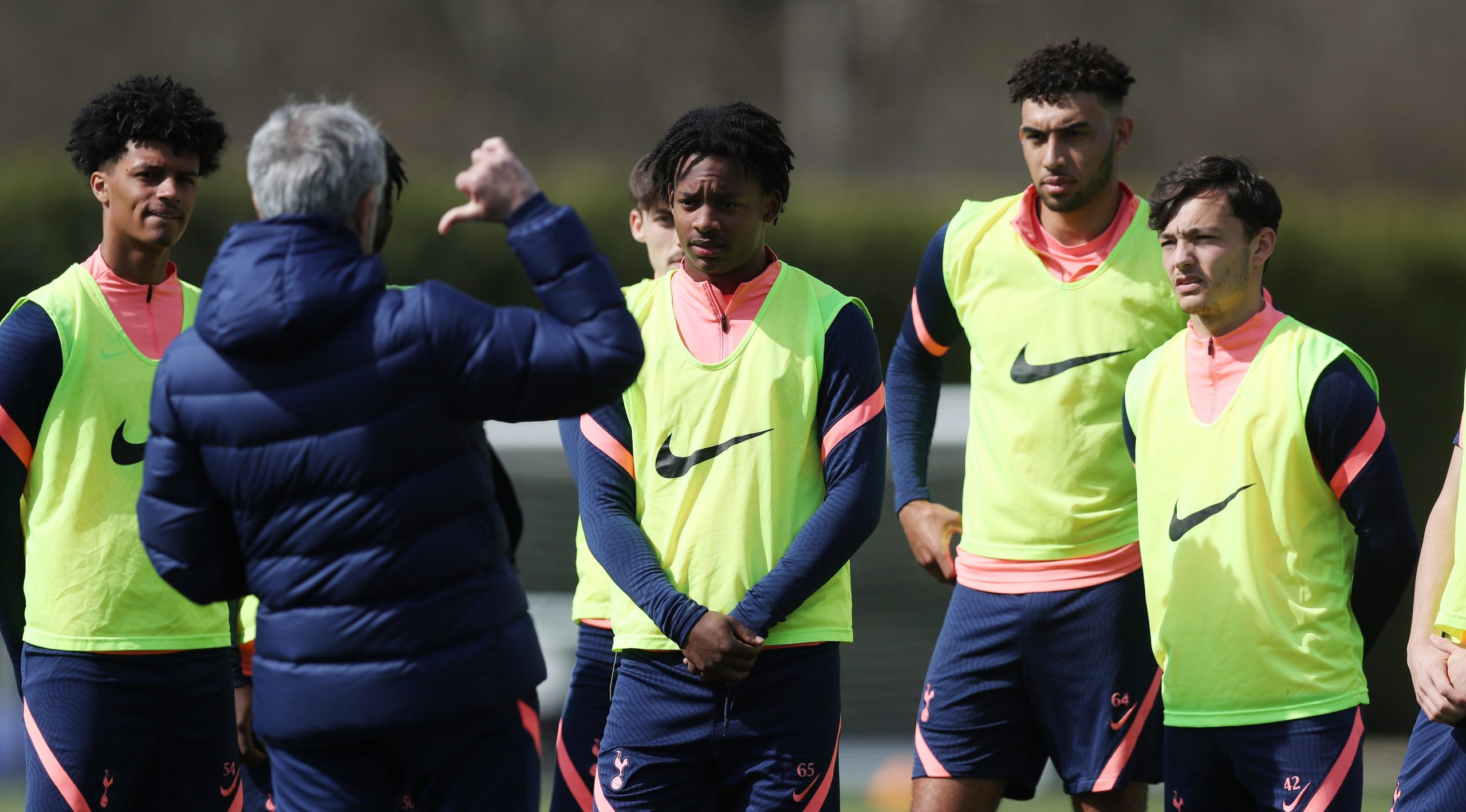 A number of youngsters including Kion Etete were pictured in Tottenham Hotspur training