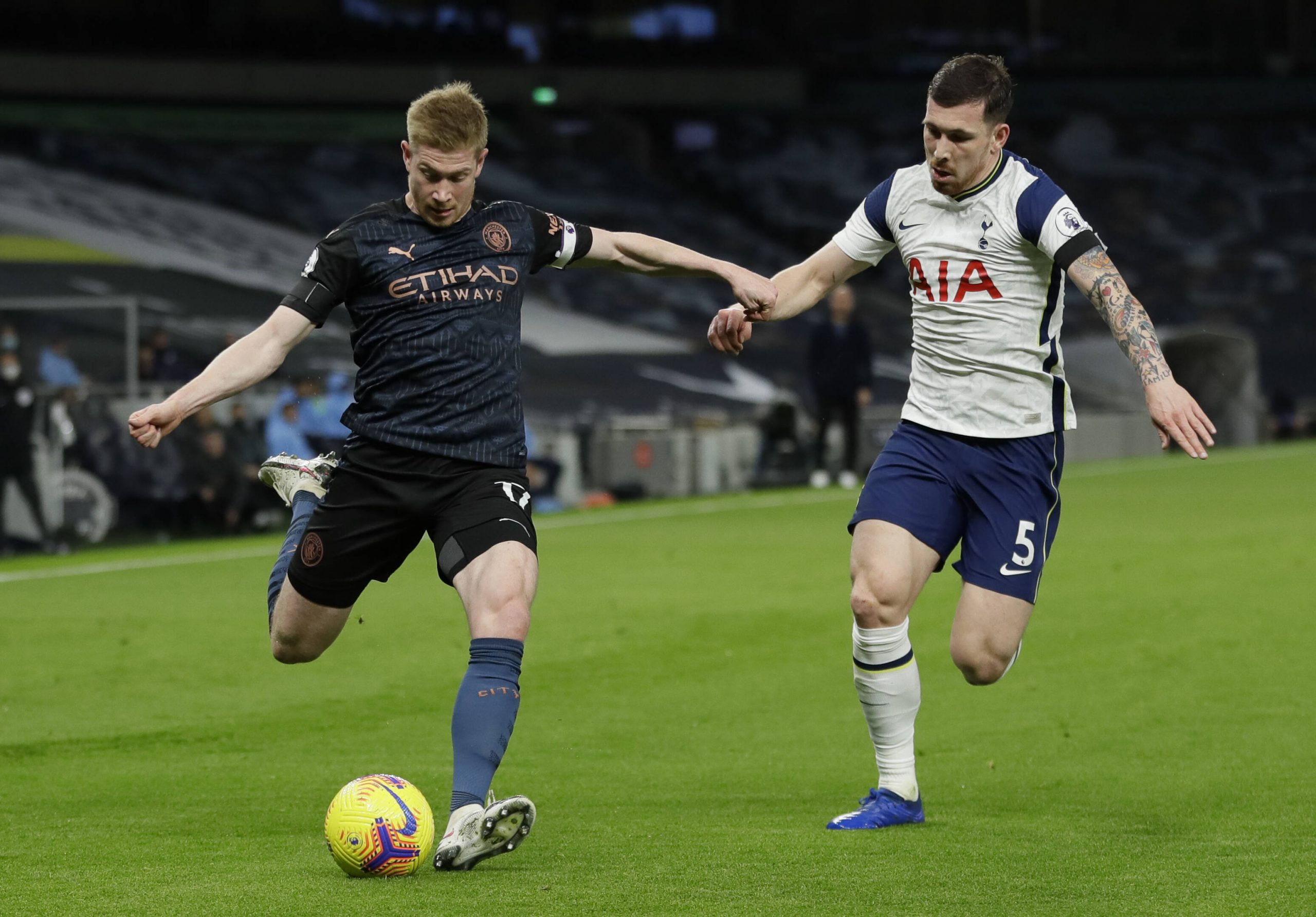 Pep Guardiola gave an injury update on Manchester City midfielder, Kevin de Bruyne, ahead of the Carabao Cup final against Tottenham Hotspur.