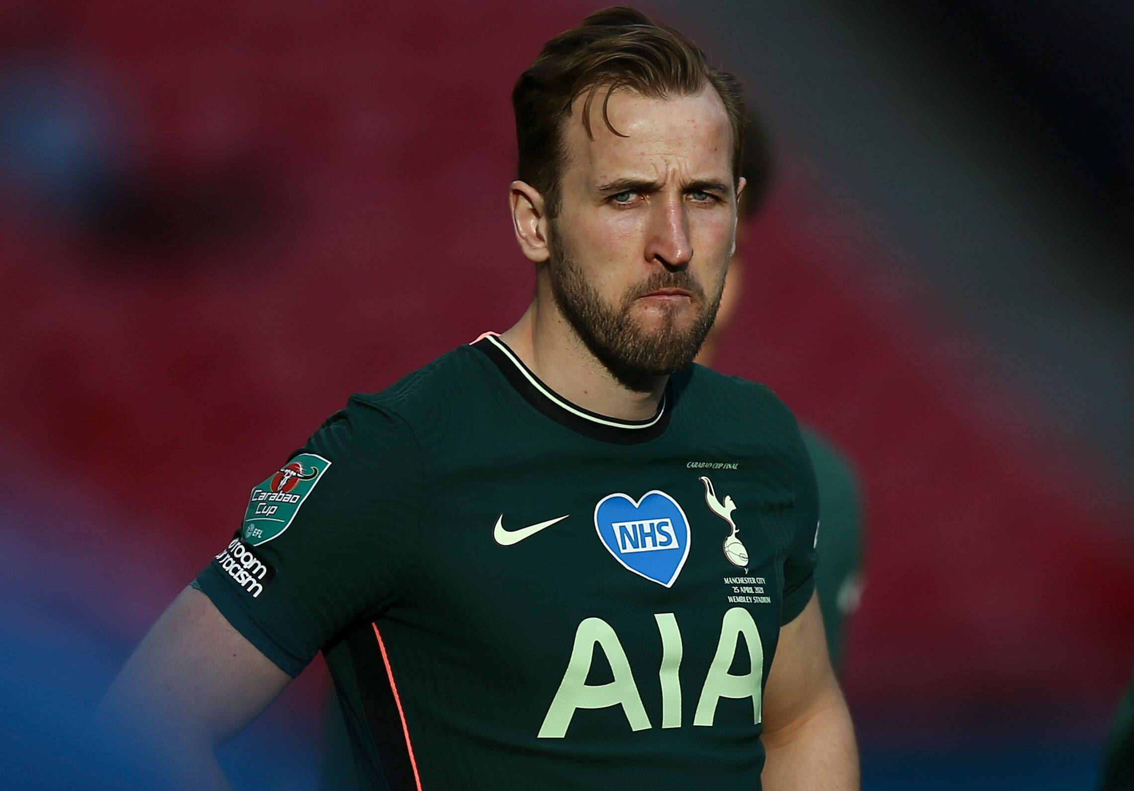 Harry Kane started but was ineffective against Manchester City. (imago Images)